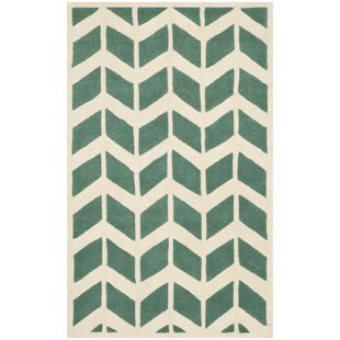 Jordan Hand-Tufted Wool Green/Ivory Area Rug by Safavieh