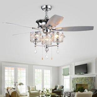 3-Light Ceiling Fan Branched Light Kit by Rosdorf Park