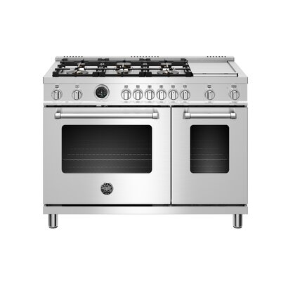 Master Series 48 Free-standing Dual Fuel Range with Griddle Bertazzoni