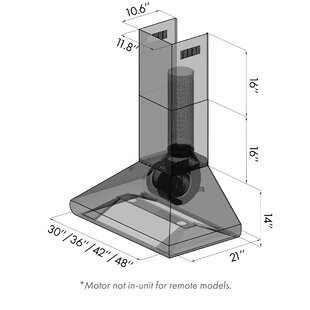 Professional 900 CFM Ducted Wall Mount Wood Range Hood