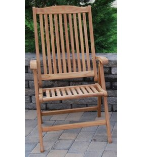 August Grove Ove Folding Teak Patio Dining Chair
