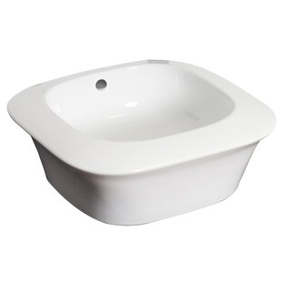 Royal Purple Bath Kitchen Ceramic Square Vessel Bathroom Sink with Overflow