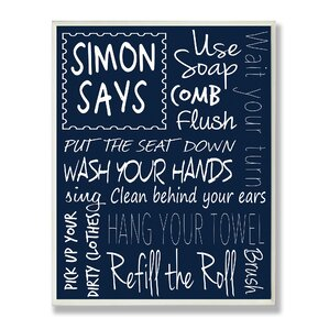 Bathroom Rules bathroom rules sign | wayfair