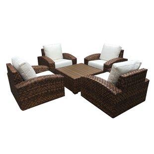 Ventrice 5 Piece Sunbrella Conversation Set with Cushions