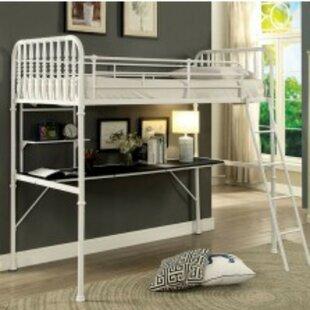 Nuneaton Twin Loft Bed with Shelf