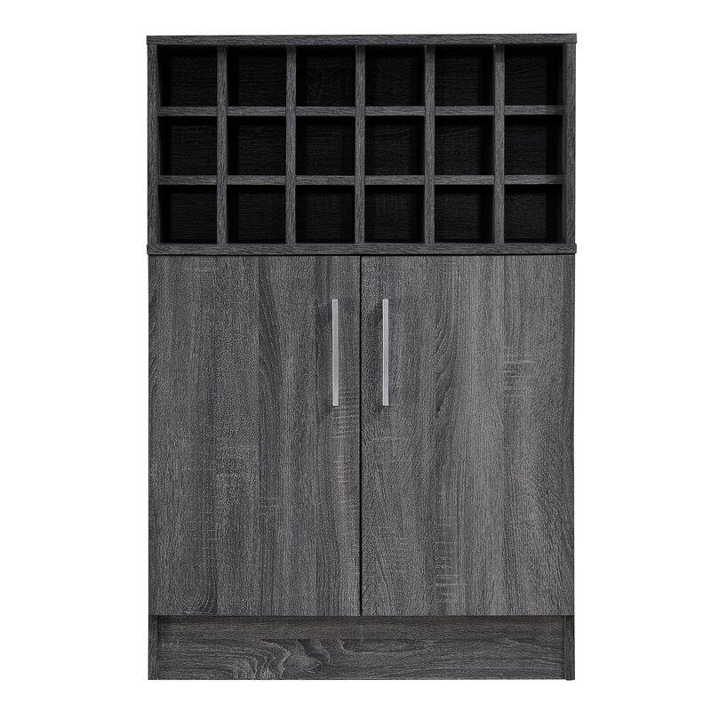 Zipcode Design  Buena Vista Mid Century Wine and Bar Cabinet