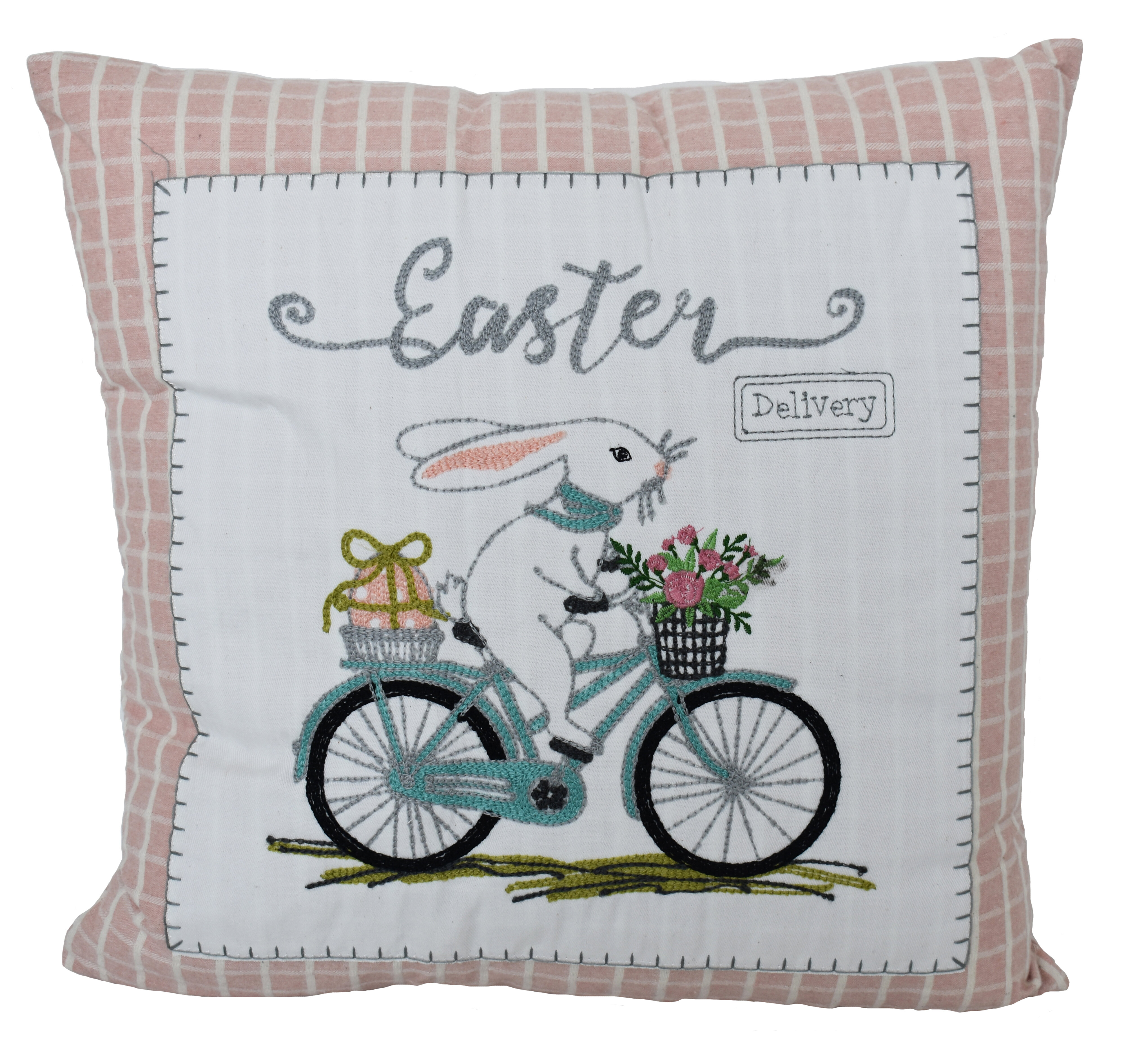 The Holiday Aisle Wier Easter Bicycle Cotton Throw Pillow Insert Wayfair