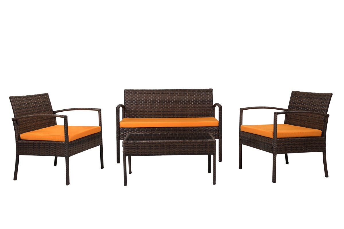 Jefferies 4-Piece Wicker Seating Group