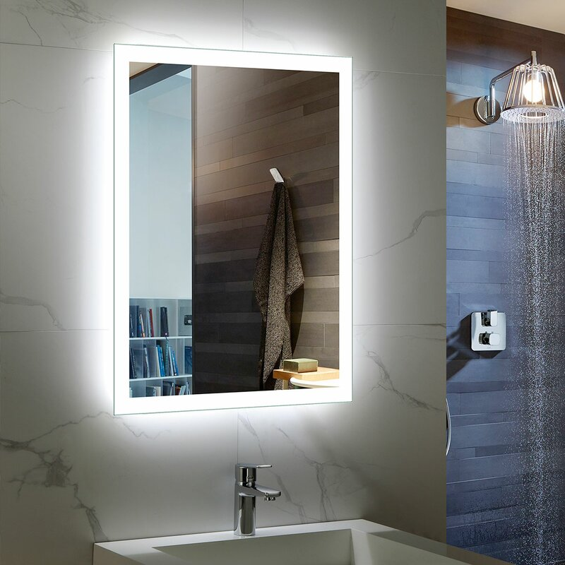 Marlin Beveled Lighted Bathroom Mirror