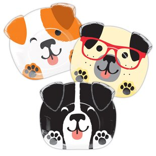 Dog Party Shaped Paper Dessert Plate (Set of 24)