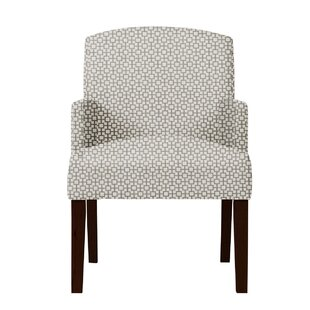 Arturo Geometric Wood Legs Arm Chair by Langley Street