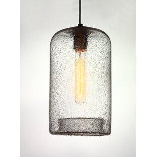 Great Price Vintage 1-Light Cylinder Pendant By Viz Glass