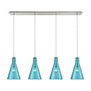 Latitude Run Reed Linear Pan 4-Light Kitchen Island Pendant