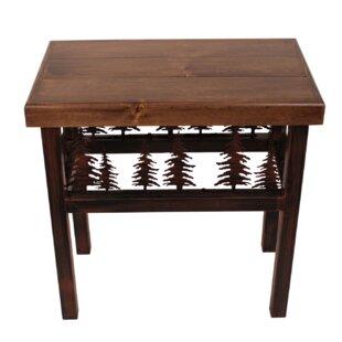 Alisha Moose/Feather End Table