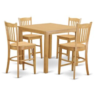 Cafe 5 Piece Counter Height Pub Table Set East West Furniture