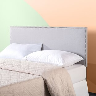 Comparison Ouida Nailhead Trim Upholstered Panel Headboard by Zipcode Design