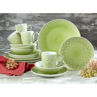 Hope Crackleglaze 16 Piece Dinnerware Set, Service for 4