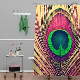Shannon Clark Peacock 2 Single Shower Curtain