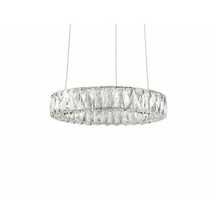 Spectrum 1-Light Crystal Pendant by Radionic Hi Tech