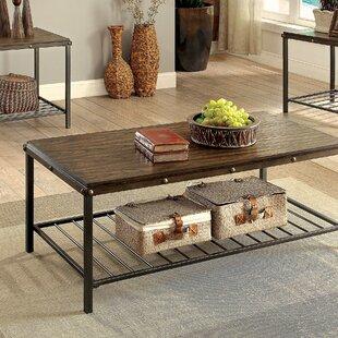 Loon Peak Mischa 3 Piece Coffee Table Set