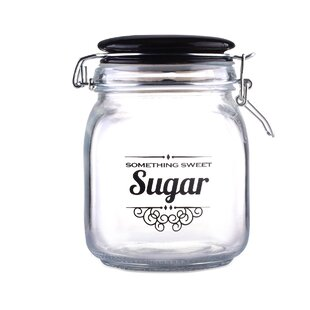 1.06 Qt. Glass Sugar Jar (Set Of 2) by Home Basics Cheap
