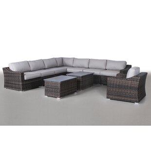 Dayse 10 Piece Sectional Set With Cushions By Sol 72 Outdoor
