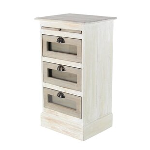 Gracie Oaks Oneill 3 Drawer Accent Chest
