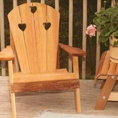 Cedar Furniture and Accessories Country Hearts Solid Wood Adirondack Chair