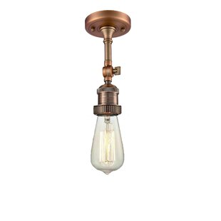 Mignone 1-Light LED Semi Flush Mount by Williston Forge