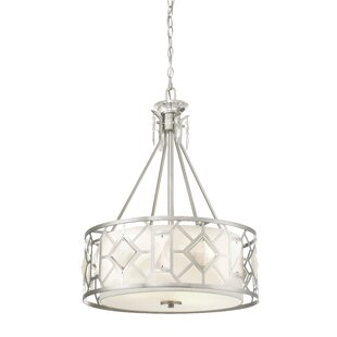 Cauthen 3-Light Drum Chandelier