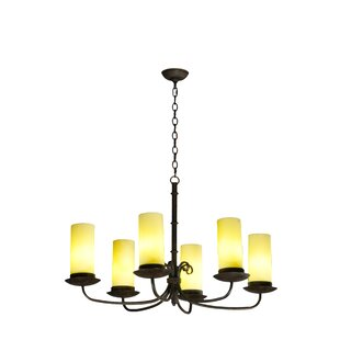 Meyda Tiffany Atria Oblong 6-Light Shaded Chandelier