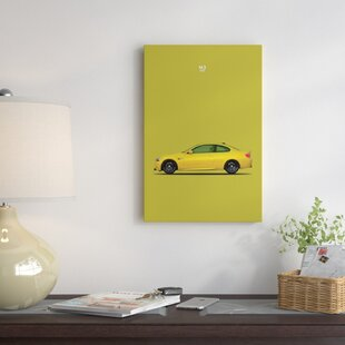 'BMW M3 E92' Graphic Art Print on Canvas By East Urban Home