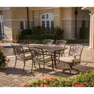 Carleton 7 Piece Oil Rubbed Bronze Dining Set with Cushions