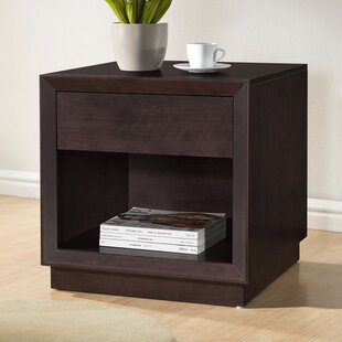Hester Street Modern 1 Drawer Nightstand by Ebern Designs
