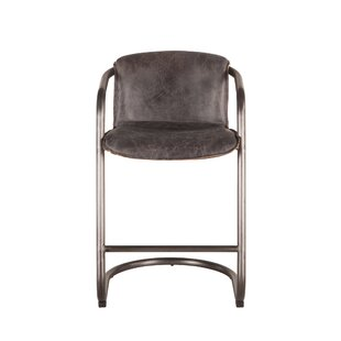 Gunter Distressed Leather Bar Stool (Set Of 2) Great price