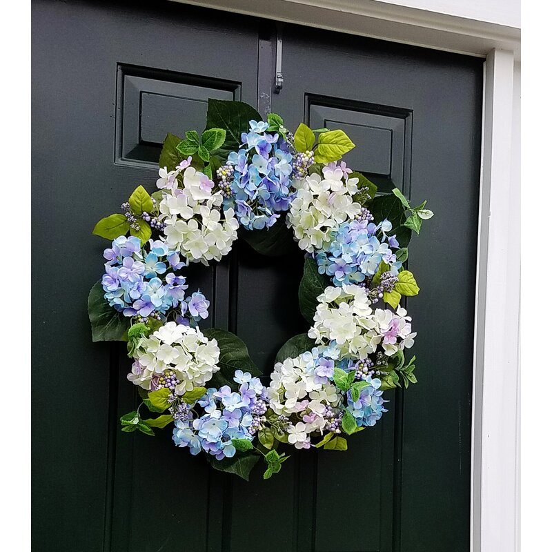 "Hydrangea 24"" Wreath"