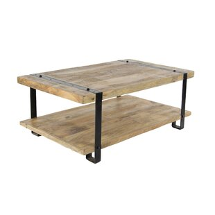 Bianka Industrial Table with Magazine Rack