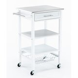 Brodnax Kitchen Cart with Stainless Steel Top by Gracie Oaks