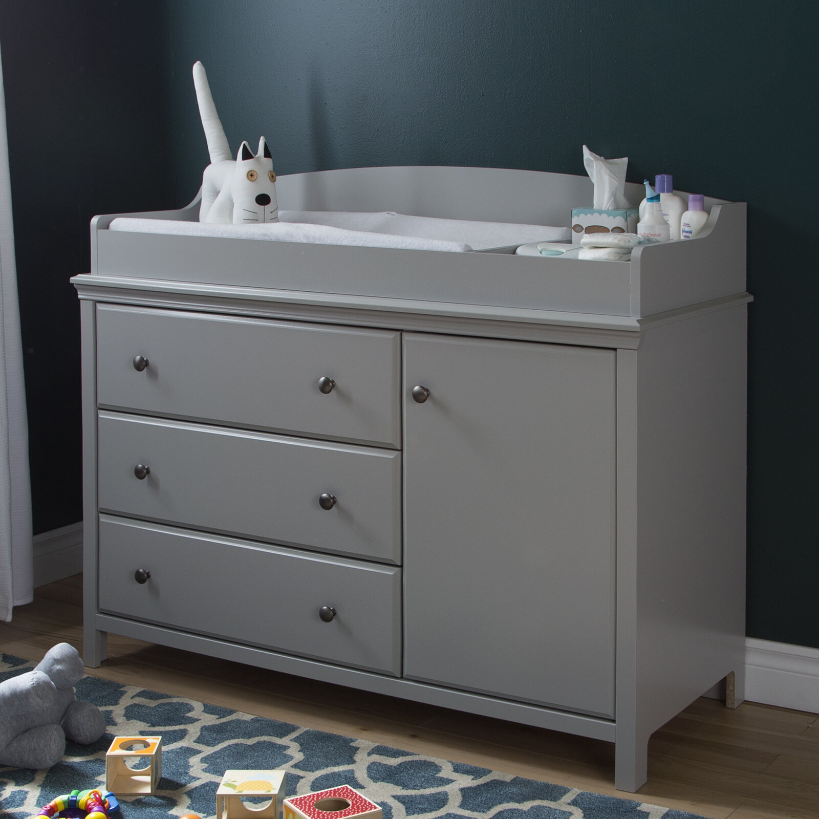 Image of: South Shore Cotton Candy Changing Table Dresser Reviews Wayfair