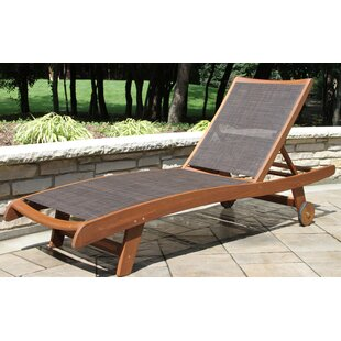 Roseland Sling & Eucalyptus Reclining Chaise Lounger (Set of 2) by Beachcrest Home