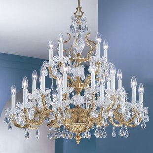Madrid 25-Light Candle Style Chandelier by Classic Lighting
