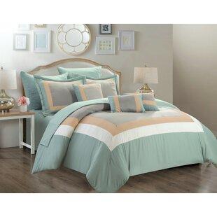 Chenard 10 Piece Reversible Comforter set