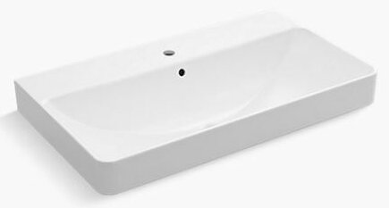 Superior Vox Vitreous China Rectangular Vessel Bathroom Sink With Overflow