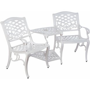 Darby Home Co Jacoby Aluminum Tete-a-Tete Bench
