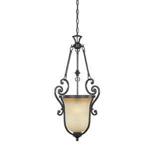 Earline 1-Light Urn Pendant by Fleur De Lis Living