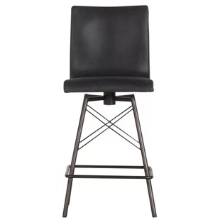 Saroyan 40 Swivel Bar Stool by Brayden Studio