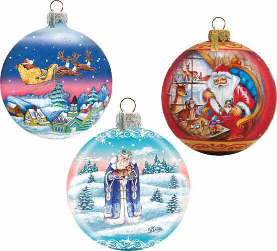 The Holiday Aisle 3 Piece Christmas Glass Ball Ornaments Set Holiday Splendor Collection Wayfair