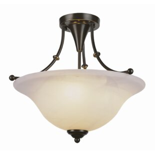 TransGlobe Lighting Contemporary Semi Flush Mount