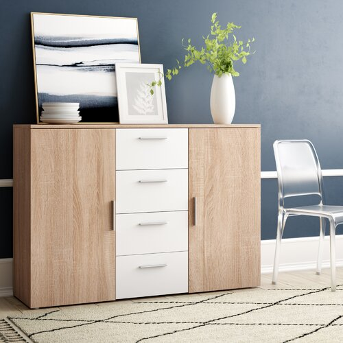 Sideboard Santa Rosa | Wohnzimmer > Schränke > Sideboards | Sonoma eiche / weiß | Holzwerkstoff - Holz - Mdf - Sonoma - Eiche - Kiefer | Homestead Living