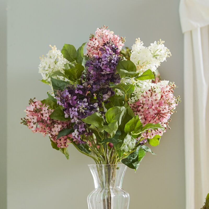 Glenham lilac silk flower arrangement reviews birch lane glenham lilac silk flower arrangement mightylinksfo Image collections